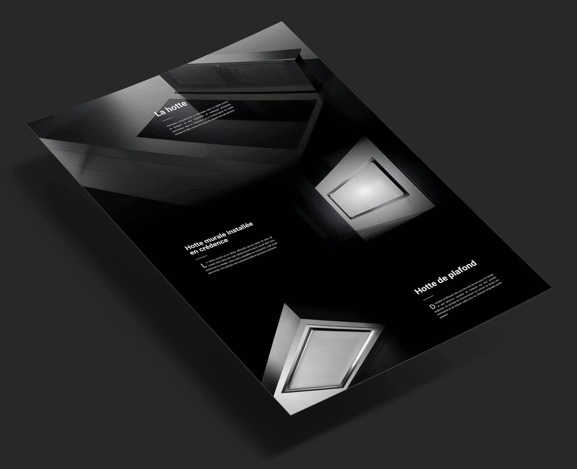 maquette du site web B.Products