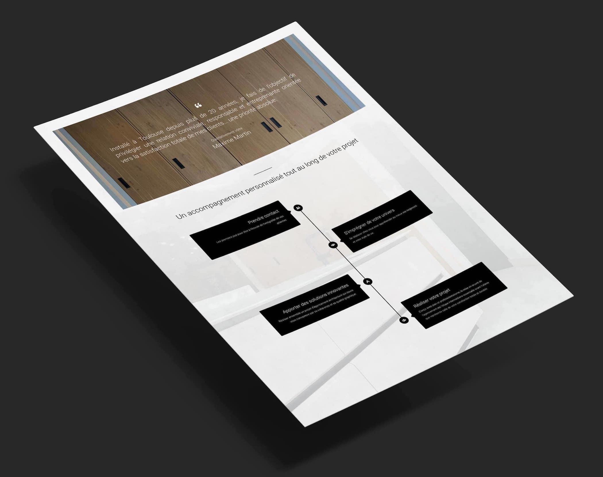maquette du site web Maxime Home Design