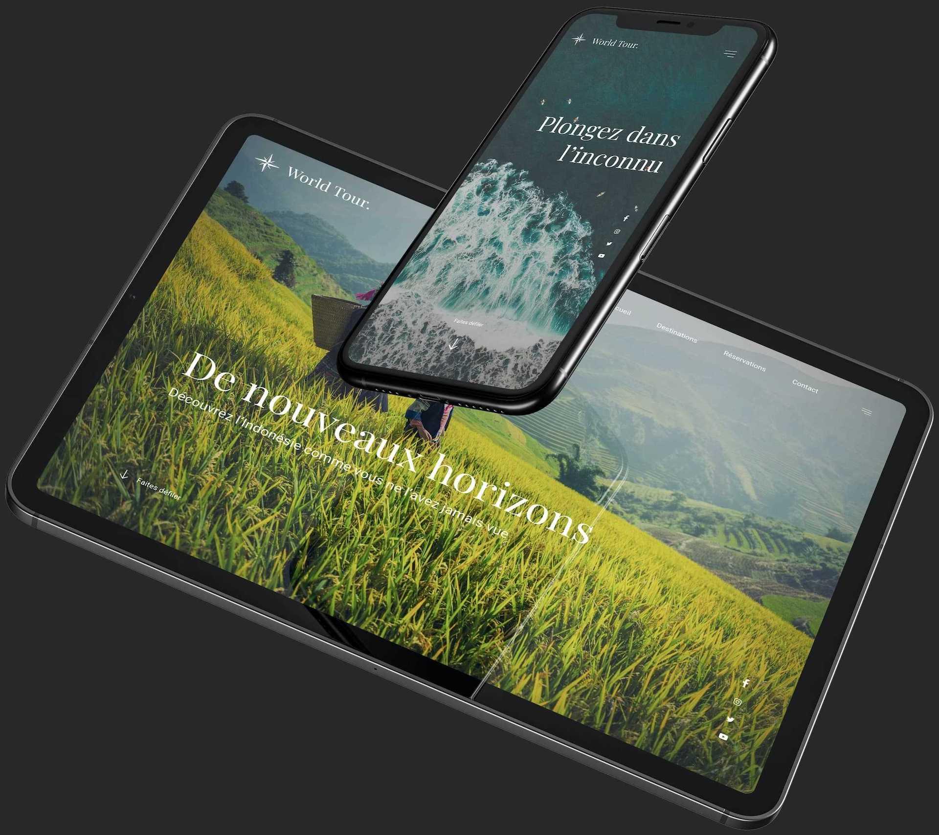 site web bkreative sur tablette et smartphone
