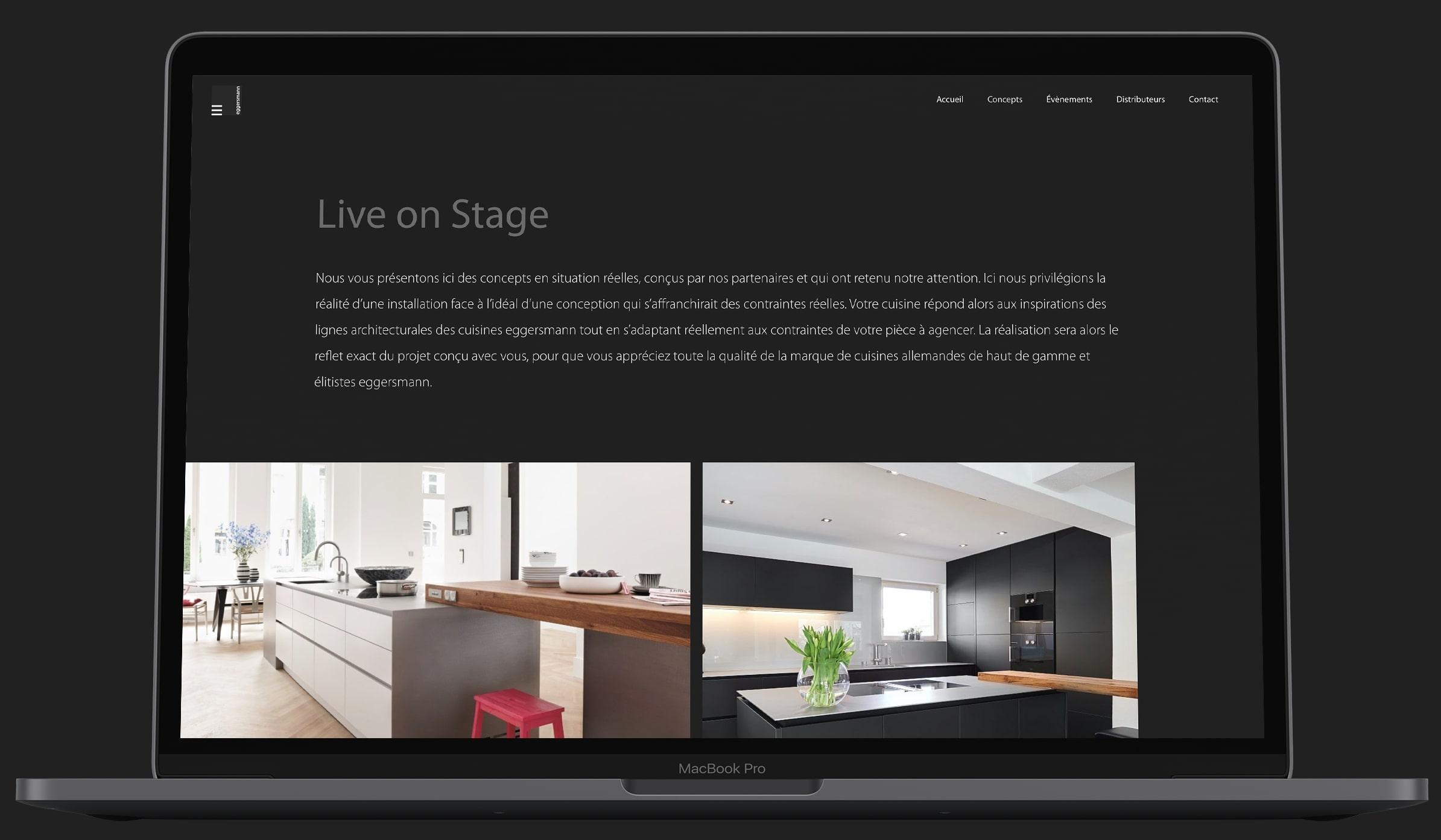 maquette du site eggersmann sur ordinateur